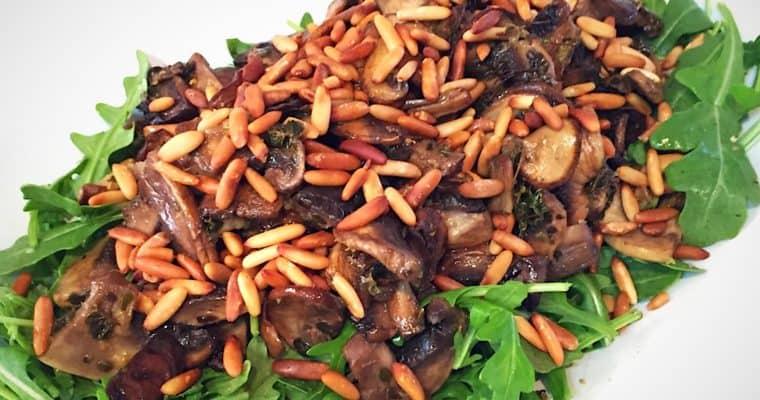 Mushroom Rocket Salad with Lemon Thyme