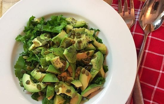 Avocado Salad with Rocket and Seeds