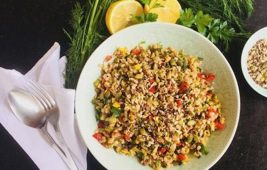 Pattypan Squash Salad with Pearl Barley and Herbs