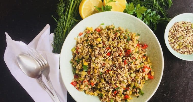 Pattypan Squash Salad with Pearl Barley and Herbs