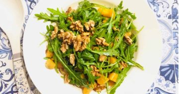 Jerusalem Artichoke Salad with Rocket & Mandarin