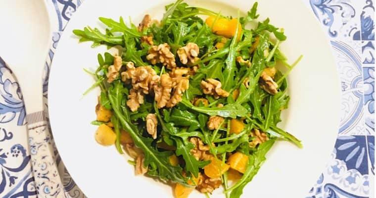 Jerusalem Artichoke Salad with Rocket & Mandarin