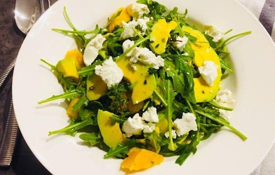 Avocado with Orange Salad in Thyme Vinaigrette