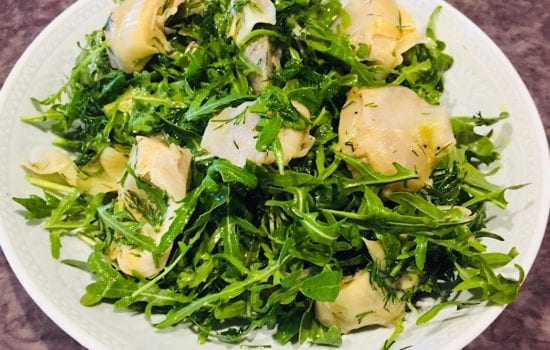 Fresh Artichoke Salad with Wild Rocket & Dill