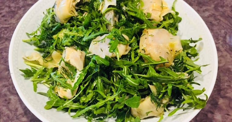 Fresh Artichoke Salad with Wild Rocket & Dill