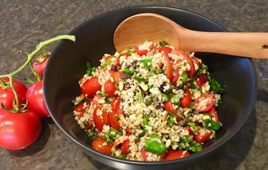 Freekeh Salad Recipe with Cherry Tomatoes and Basil