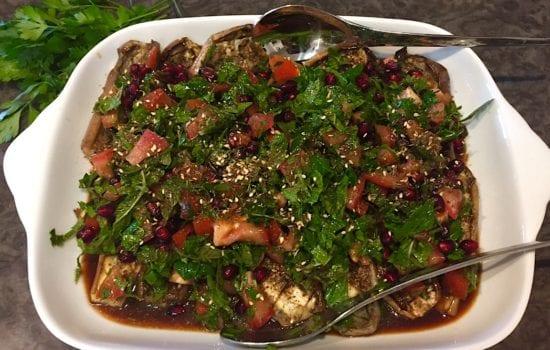 Za'atar Salad with Eggplant
