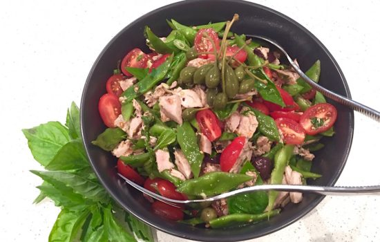 Grilled Tuna Salad with Flat Beans