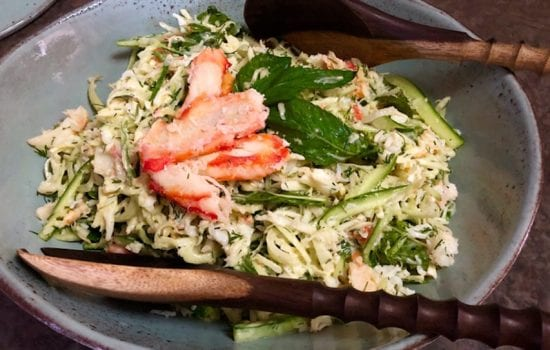 Crab Meat Salad with Fennel and Herbs