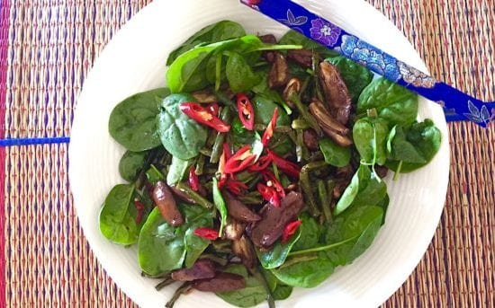 Snake Beans and Eggplant Salad with 5-Spice