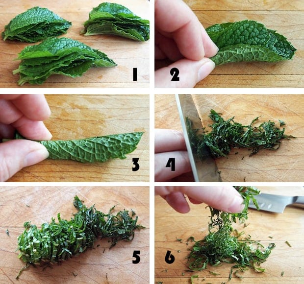 STEP BY STEP INSTRUCTIONS ON HOW TO CUT CHIFFONADE