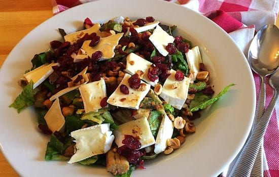 Asparagus and Brie Salad with Hazelnuts