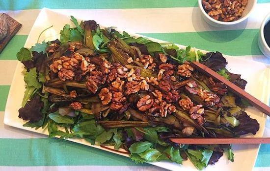 Leek Salad with Balsamic and Walnuts