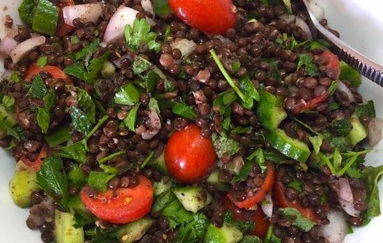 Tomato and Black Lentil Salad
