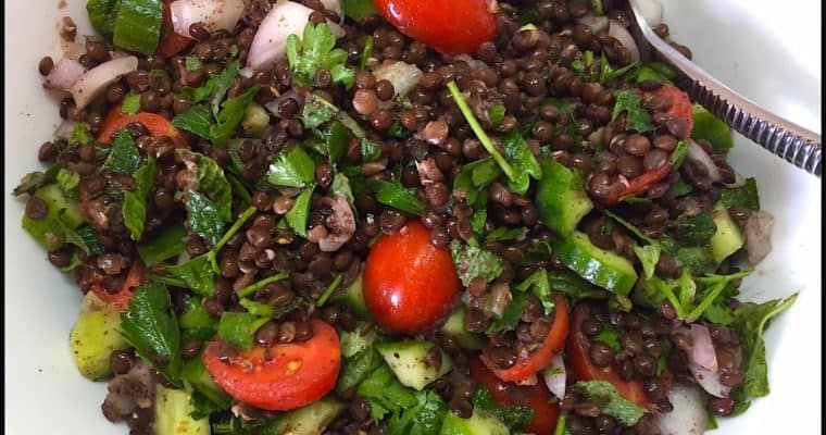 Tomato and Black Lentil Salad