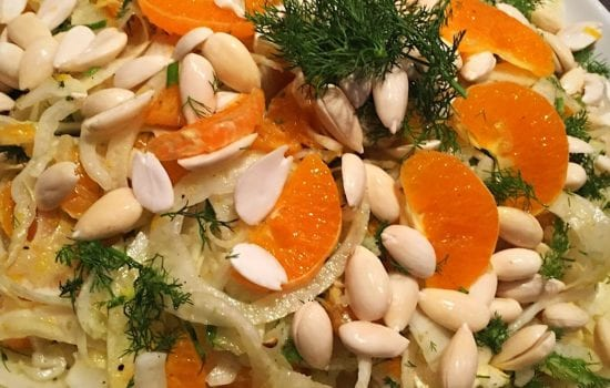 Fennel, Mandarin and Blanched Almond Salad