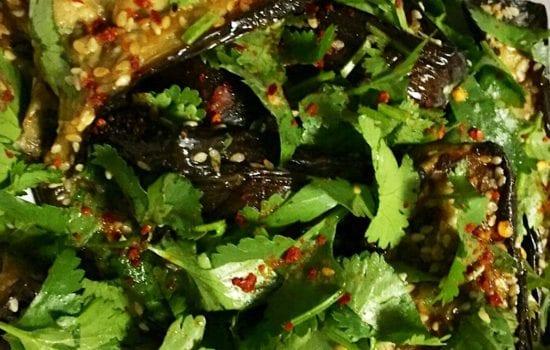 Japanese Eggplant Salad – heavenly flavours!