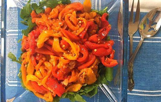 Colourful Capsicum and Rocket Salad