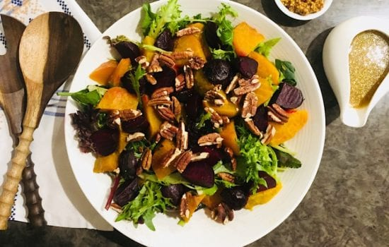 Golden Beet Salad with Honey Mustard Dressing