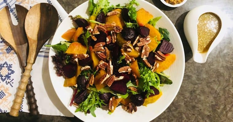 Golden Beet Salad with Honey Mustard Dressing | Salads with