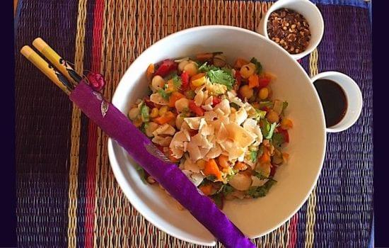 Thai Chickpea and Corn Salad