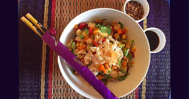Thai  Chickpea and Corn Salad