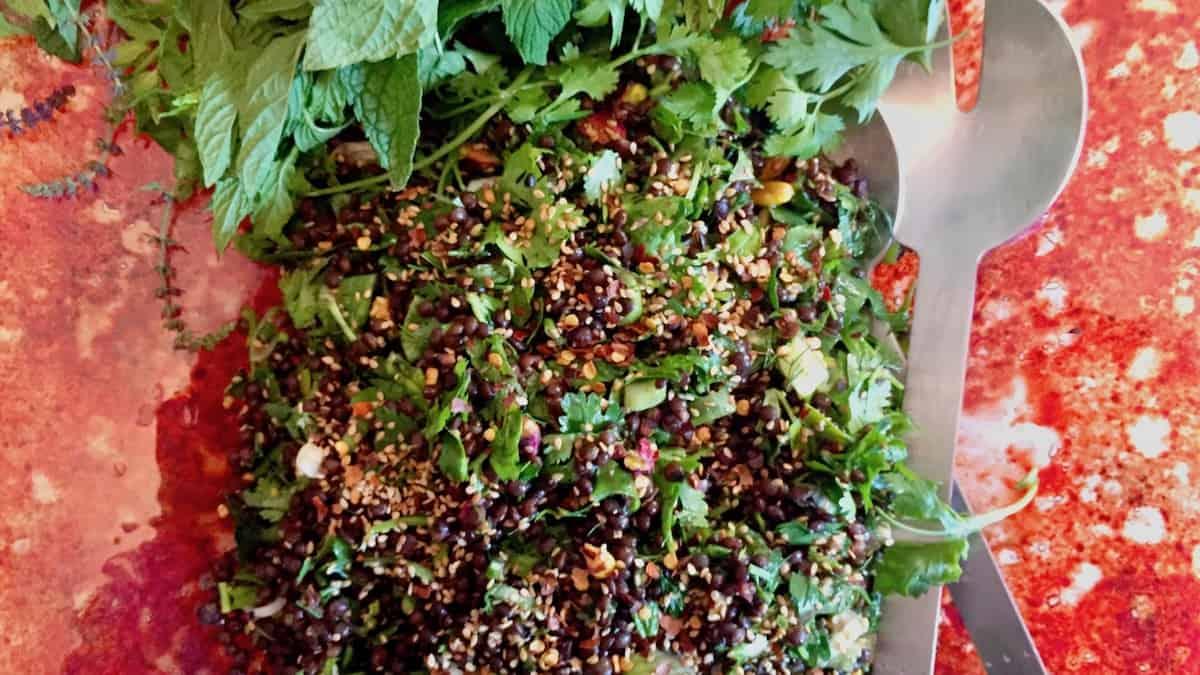 Black Lentil Salad – perfect for picnics
