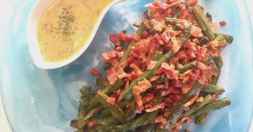 Warm Asparagus Salad with Crispy Flat Pancetta