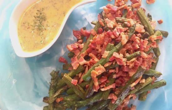 Warm Asparagus Salad with Crispy Flat Pancetta
