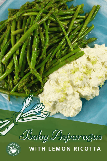 PINTEREST - BABY ASPARAGUS WITH LEMON RICOTTA