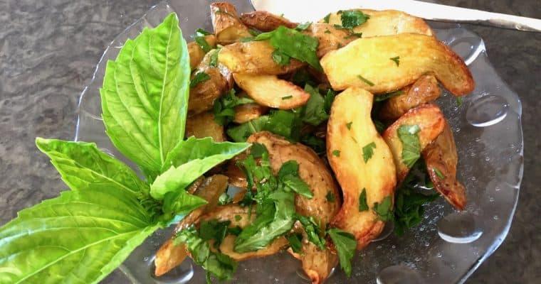 Roasted Kipfler Potato Salad with Herbs