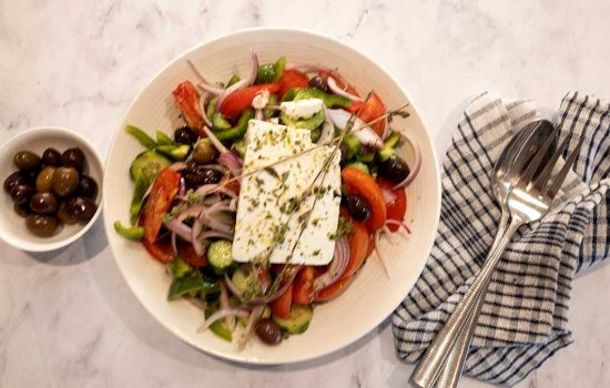 Horiatiki Salad- a trip to Greece on your table
