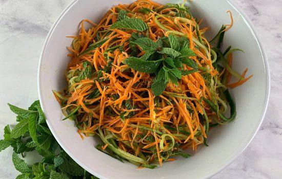 Aromatic Cucumber & Carrot Salad