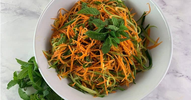 Aromatic Cucumber & Carrot Salad