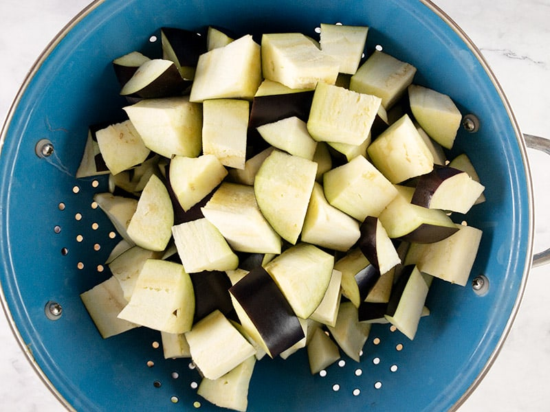 CUBED-EGGPLANTS-IN-COLANDER