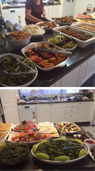 BUFFET FOR DADS NAME DAY