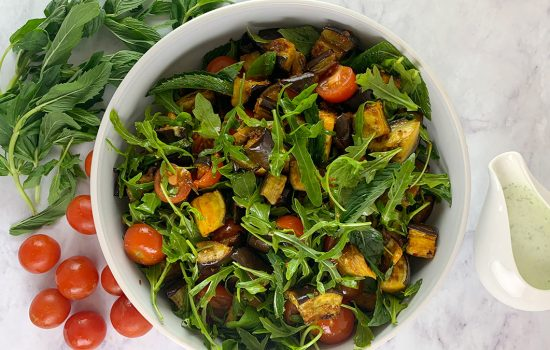 Eggplant Salad with Harissa