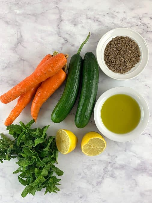 INGREDIENTS-FOR-AROMATIC-CUCUMBER-&-CARROT-SALAD