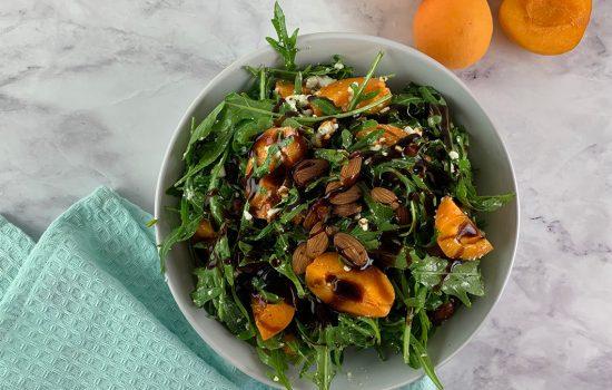 Rocket Salad with Raw Apricots & Feta