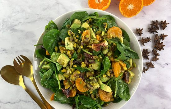 Spinach Mandarin Orange Salad with Star Anise