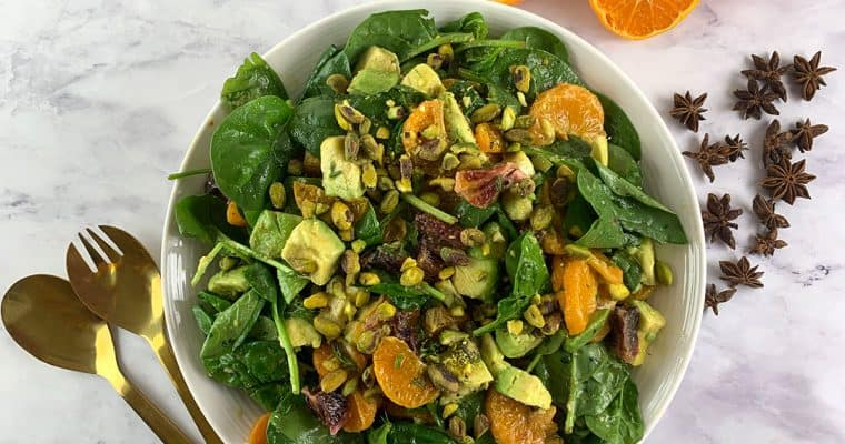 Spinach Mandarin Orange Salad with Star Anise