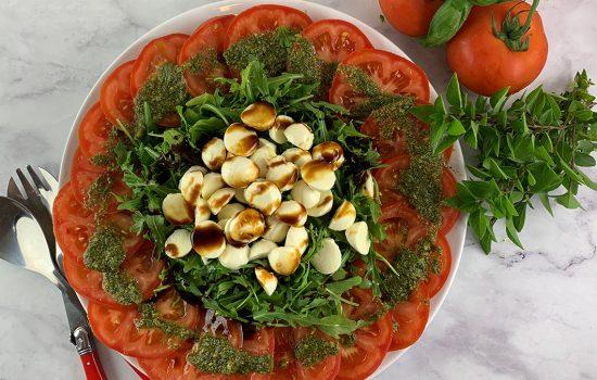 Tomato Mozzarella Salad with Sticky Balsamic