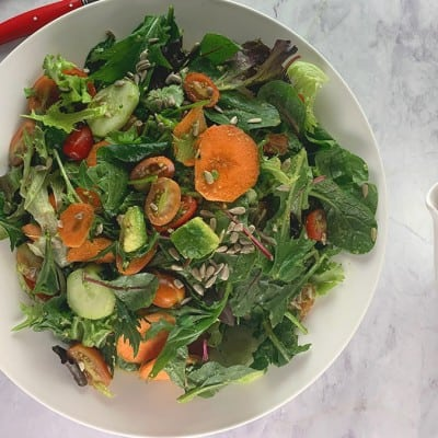 TOSSED SALAD WITH HARISSA DRESSING