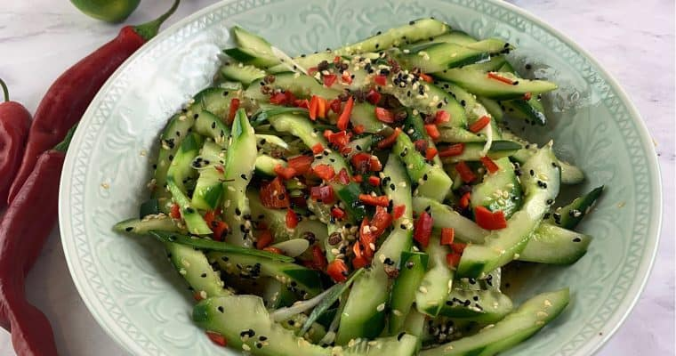 Chinese Cucumber Salad with Sesame