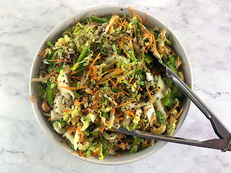 MIXING-CHINESE-CABBAGE-SALAD