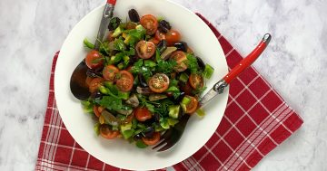 Olive Salad with Tomatoes and Peppers