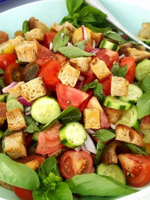 Panzanella Italian Bread Salad Salads With Anastasia