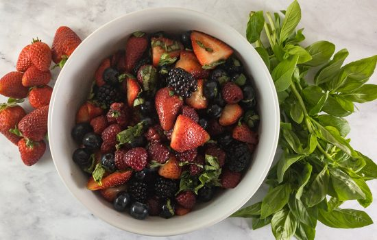 Summer Berry Salad with Balsamic