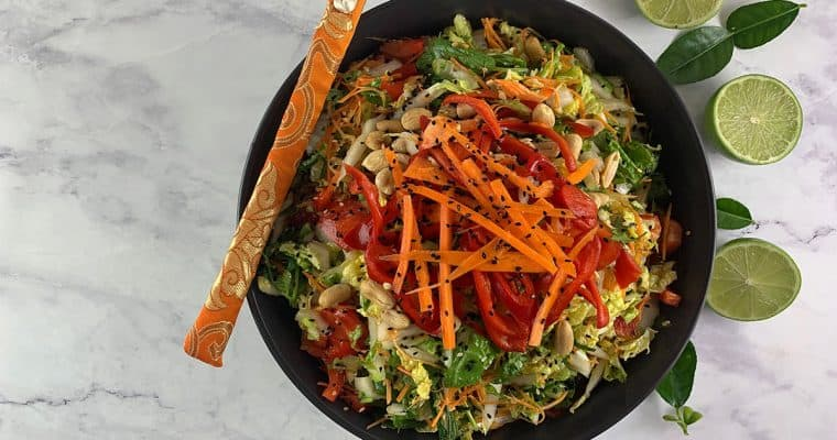 Tasty Thai Asian Slaw – full of umami!