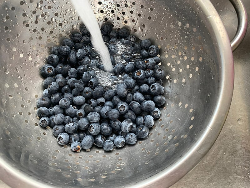 WASHING-BLUEBERRIES